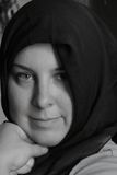 muslimkvinna royaltyfri fotografi