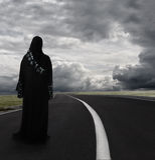 Muslimkvinna med hijab Royaltyfria Foton