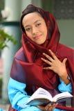 muslimkvinnabarn arkivbilder