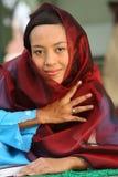 muslimkvinnabarn royaltyfri fotografi