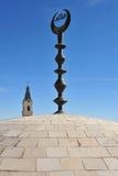 Muslimmoské i Jerusalem den gammala staden Arkivfoto