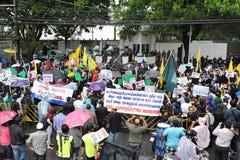 Muslims протестуют невиновность пленки Muslims Стоковое Изображение RF