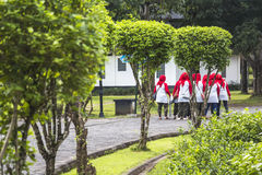 Muslims in Borobudur temple park Stock Images