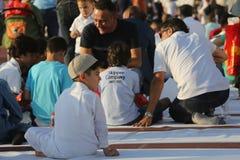 Muslims celebrating Eid al-Fitr Stock Images