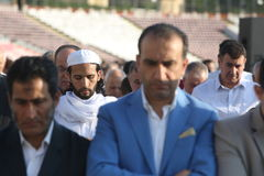 Muslims celebrating Eid al-Fitr Stock Photography