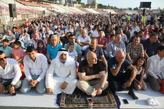 Muslims celebrating Eid al-Fitr Royalty Free Stock Photography