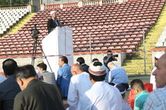 Muslims celebrating Eid al-Fitr Stock Photo