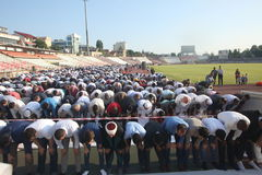 Muslims celebrating Eid al-Fitr Royalty Free Stock Photos