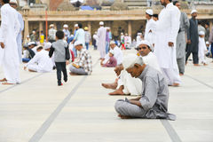Muslims celebrating Eid al-Fitr which marks the end of the month of Ramadan Royalty Free Stock Photography