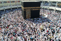 That Muslims circumambulate around the kaaba Royalty Free Stock Image