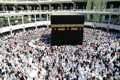 That Muslims circumambulate around the kaaba Royalty Free Stock Photo