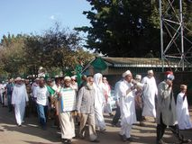 Muslims in a demonstration Africa. Muslims in Nairobi Kenya in a demonstration Royalty Free Stock Photography