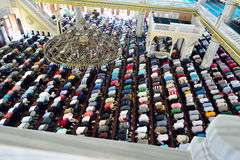 Muslims during Friday prayers in congregation in bulk Stock Photo