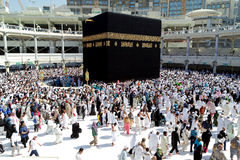 Muslims gathered in Mecca of the world's different countries. Royalty Free Stock Photos