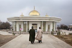 Muslims go to pray. In the Mosque Nur ul Islam in the Khujand city, Tajikistan Royalty Free Stock Image