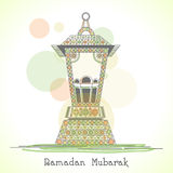 Muslims holy month Ramadan Kareem celebration with Arabic lantern. Stock Photo