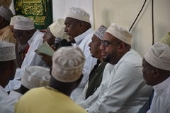 Muslims in Maulid. Muslim leaders recite poems to praise the Prophet Muhammad (S.A.W) in Nairobi Kenya Royalty Free Stock Photography