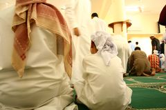 Muslims at mosque Royalty Free Stock Photography