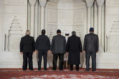 Muslims at mosque Stock Photography