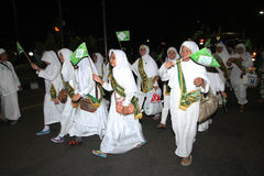Muslims parade Royalty Free Stock Photo