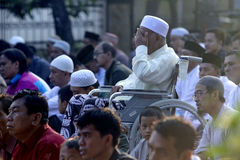 Muslims pray. During the celebration of Eid in the city of Solo, Central Java, Indonesia Royalty Free Stock Photos