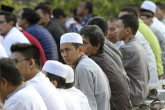 Muslims pray. During the celebration of Eid in the city of Solo, Central Java, Indonesia Stock Photography