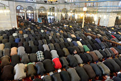 Muslims pray in the mosque Fatih Royalty Free Stock Photos