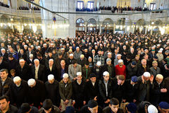 Muslims pray in the mosque Fatih Royalty Free Stock Image