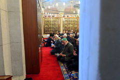 Muslims pray in the mosque Fatih Stock Image
