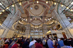 Muslims pray in the mosque Fatih Stock Photos