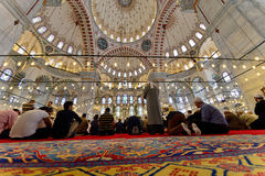 Muslims pray in the mosque Fatih Royalty Free Stock Photography