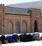 Muslims praying Stock Photo
