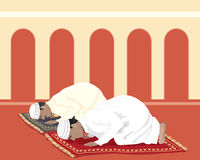 Muslims praying Royalty Free Stock Photography