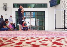 Muslims praying inside the new Seksyen 7 Mosque on Friday. Royalty Free Stock Photography