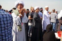 Muslims praying Mount Arafat of mercy (Jabal Rahmah) Stock Photography