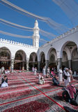 Muslims praying in Quba Mosque Royalty Free Stock Images