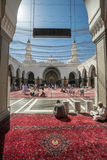 Muslims praying in Quba Mosque Royalty Free Stock Photography