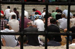 Muslims praying in Sarajevo, Bosnia Stock Image