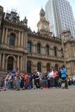 Muslims praying in Sydney Stock Photos