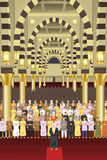 Muslims praying together in a mosque Royalty Free Stock Images