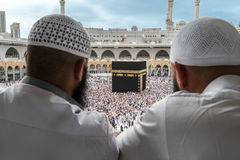Muslims watching Kaaba in Mecca. Royalty Free Stock Photography