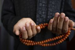 Muslims young  pray for God   Ramadan with hope and forgiveness,Islam is a belief for the five-day prayer,Concept: Culture. Muslims young  pray for God  in stock image