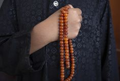 Muslims young  pray for God   Ramadan with hope and forgiveness,Islam is a belief for the five-day prayer,Concept: Culture. Muslims young  pray for God  in royalty free stock photo
