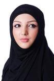 Muslimsk bärande hijab för ung kvinna Arkivfoto