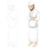 Muslimsk bön Arkivfoto