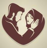 Muslimsk förälskelse Royaltyfri Bild