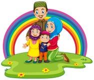 Muslimsk familj vektor illustrationer
