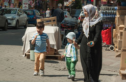 Muslimsk familj Royaltyfria Bilder