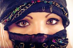 Muslimsk framsida Royaltyfri Foto