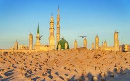 Muslimsk kyrkogård på den Nabawi moskén i Madinah Royaltyfri Fotografi